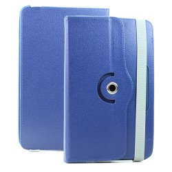 Universal 7 inch 360 Premium Flip Leather Tablet Case (Blue)